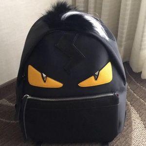 Black fendi backpack